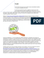 Efectos de la dieta Crash
