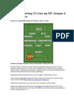 Formasi Starting XI Line Pes 13