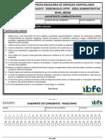 Ibfc 900 Assistente Administrativo Prova