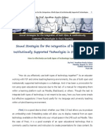 Sound Strategies for the Integration of Both Open & Institutionally Supported Technologies