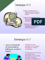Estrategia 11.2 y11.3