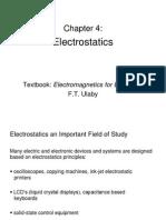 Ch4 Electrostatics Part I
