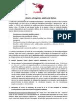 Carta de la FLASOG a la opinión pública de Bolivia sobre la Anticoncepción de Emergencia