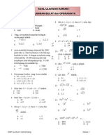 Soal Matematika 7 SMP SKC