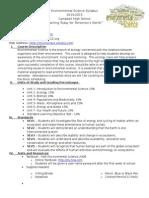environmental science syllabus fall 2015