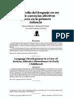 El desarrollo del lenguaje en un caso de carencias afectivas graves en la primera infancia