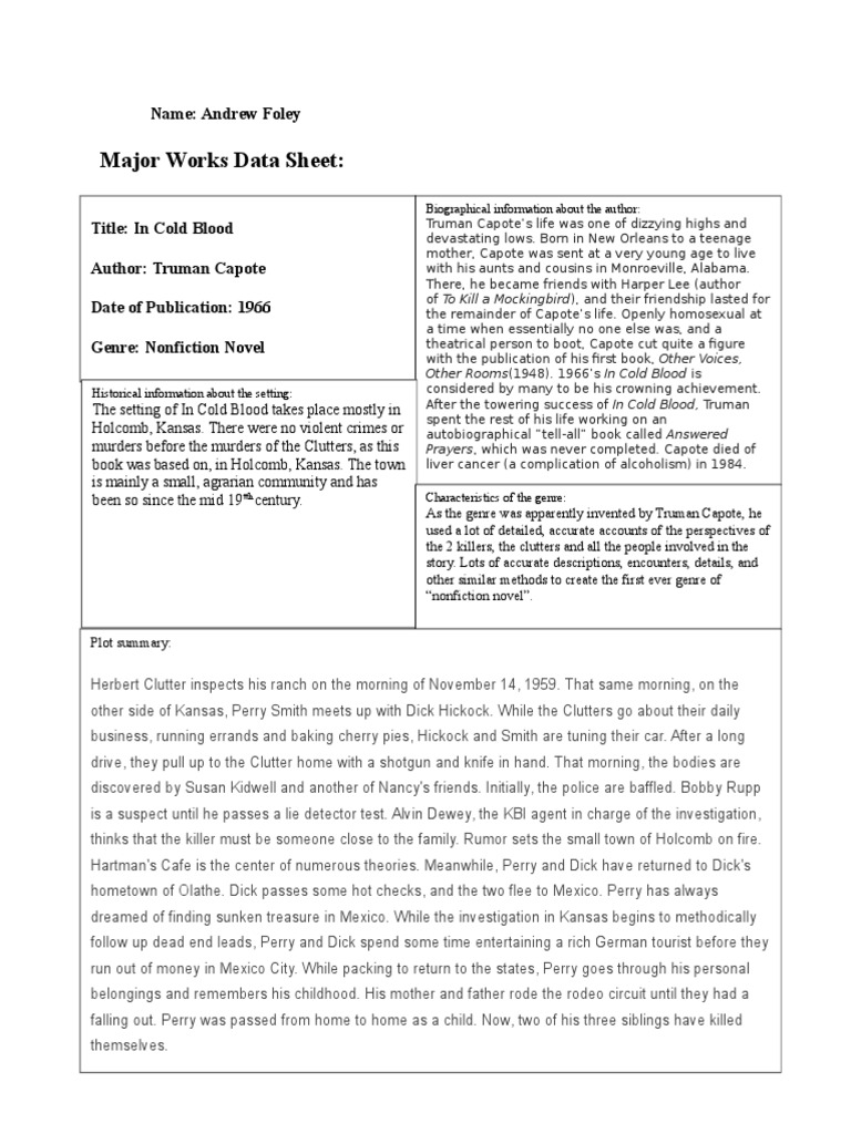 major works data sheet for brave new West forsyth major works data sheet ap literature and composition class period: 3a title of work: brave new world author: aldous huxley date of publication: 1932 genre: modernist characteristics of the genre: historical information about the period of publication: 1932 was an influential time period in united states history because it was at.