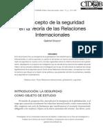El Concepto de Seguridad en La Teoria de Las Relaciones Internacionales