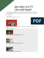 3 Claves Para Saber Si Tu TV Puede Recibir Señal Digital