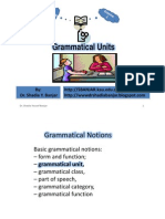 Grammatical Units, By Dr. Shadia Yousef Banjar