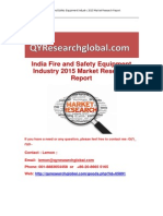 India Fire and Safety Equipment Industry 2015 Market Research Report
