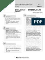 TCM SP Agente de Fiscalizacao - Especialidade - Ciencias Juridicas (DR-CJR) Tipo 1