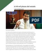 SEP Rechazó 49 Mil Plazas Del Estado