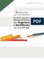 Manual Del Profesor Para Ingreso al Bachillerato 2015-2016