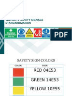 Safety Signage Standardization