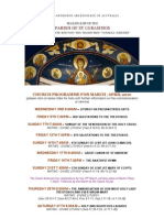 Church Programme for March /April 2010