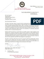 Letter to APS Superintendent from State Auditor