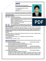 CV for Mechanical Engineer