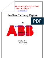 project report on ABB INDIA LTD., Nashik