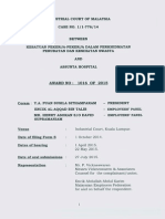 Industrial Court Award:::AWARD NO