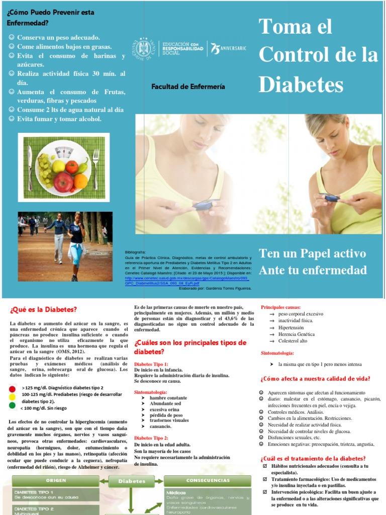 triptico sobre diabetes mellitus tipo 2