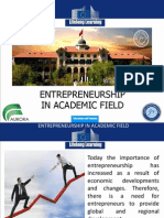 entrepreneurship in academic field
