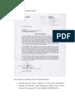 Contoh Laporan Audit Yang Dikumpul