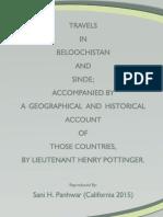 Travels in Beloochistan and Sinde (Sindh)  - 1816