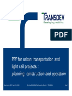 PPP for Urban Transportation