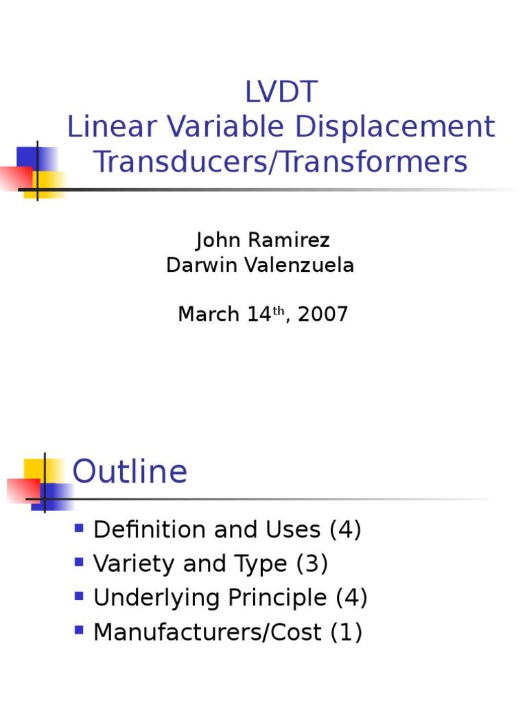 LVDT John Ramirez and Darwin Valenzuela | Inductor | Electromagnetic  Induction