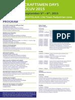 Program Craftsmen Days 2015