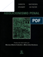 Abolicionismo Penal - Hulsman Scheerer, Christie Steinert y Mathiesen de Folter