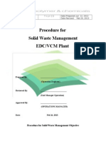 Solid Waste Management Procedure EDC VCM