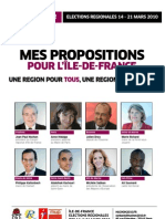 Propositions Huchon 2010 régionales