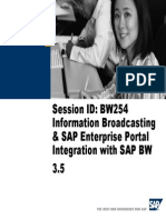 Information Broadcasting and SAP Enterprise Portal Integration With SAP BW 3.5[1]