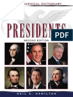 Presidents -- A Biographical Dictionary