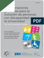 Consideraciones Generales Para La Inclusion de Personas Con Discapacidad en La Universidad