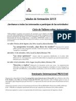 Agenda de Formación 2015