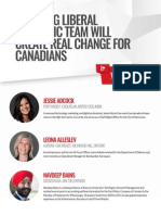 Liberal Leader Justin Trudeau's economic team