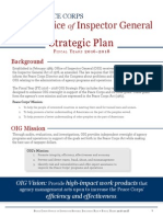 Peace Corps IG FY 2016-18 OIG Strategic Plan