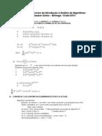 2ª Lista de Exercícios de Introdução à Análise de Algoritmos
