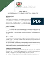Disciplina - Biosegurança