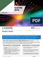 Studiu - Tendinte Si Realitati CSR in Romania - EY Romania & CSRmedia.ro - 2015