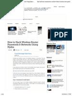 Hydra Router Attack