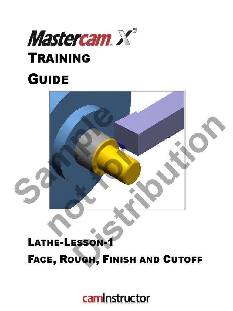 X7-Mastercam-Lathe-Lesson-1-sample.pdf   Machine Tool   Numerical Control