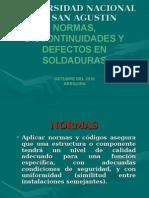 95936733-Normas-Discontinuidades-y-Defectos-en-Soldadura.ppt