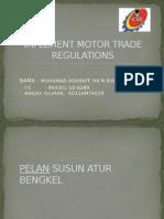 Implement Motor Trade Regulations Hanz