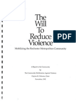 1992 Community Mobilization Against Violence Report