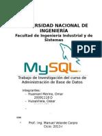 MySQL Trabajo