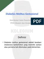 Diabetes Melitus Gestasional Ppt